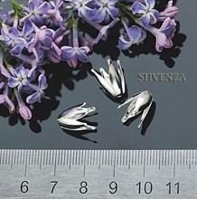Шапочки для бусин цвет - серебро 001-002