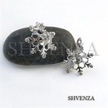 Швензы родиевое покрытие цвет серебро английский замок 014-216
