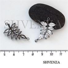 Коннектор - листочек цвет чёрный 021-106