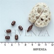 Металлические бусины трубочки цвет медь 007-015