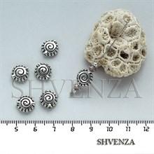 Металлические бусины цвет серебро 007-019
