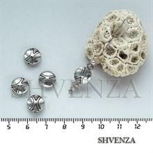 Металлические бусины цвет серебро 007-020
