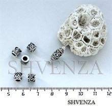 Металлические бусины трубочки цвет античное серебро 007-024