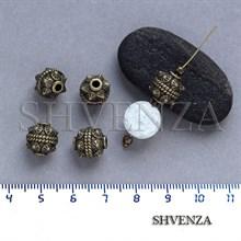 Металлические бусины цвет бронза 007-036