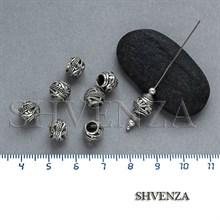 Металлические бусины цвет античное серебро 007-051
