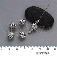 Металлические бусины цвет античное серебро 007-057