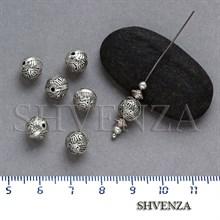 Металлические бусины цвет античное серебро 007-060