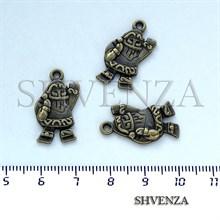 Подвеска металлическая Санта цвет бронза 005-021