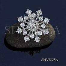 Бейл Снежинка крупный цвет серебро 018-028