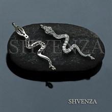 Коннектор змейка цвет серебро 021-125
