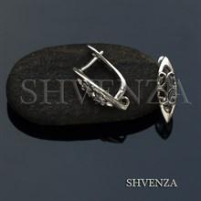 Швензы родиевое покрытие цвет серебро английский замок 017-093