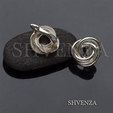 Швензы родиевое покрытие цвет серебро английский замок 017-105