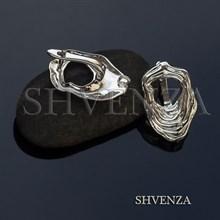 Швензы родиевое покрытие цвет серебро английский замок 017-115