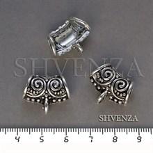 Бейлы цвет античное серебро 018-039
