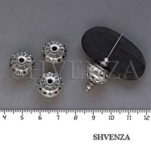 Бусина акриловая цвет античное серебро 029-009
