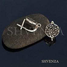 Швензы родиевое покрытие цвет серебро английский замок 017-117