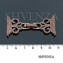 Замочек с фианитами цвет розовое золото 011-022