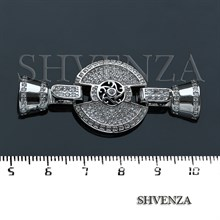 Замочек с фианитами цвет серебро 011-028