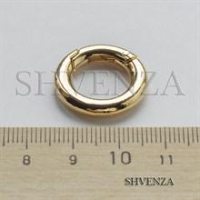 Замочек круглый с покрытием родием цвет золото 011-030