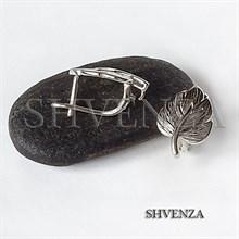 Швензы родиевое покрытие цвет серебро английский замок 017-125