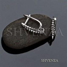 Швензы родиевое покрытие цвет серебро английский замок 017-127