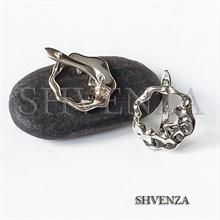 Швензы родиевое покрытие цвет серебро английский замок 017-132