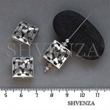 Металлические бусины ажурные цвет античное серебро 007-137