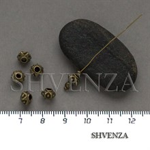 Металлические бусины цвет бронза 007-144