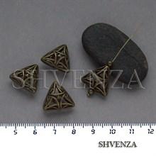 Металлические бусины крупные цвет бронза 007-152