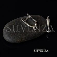 Швензы родиевое покрытие цвет серебро английский замок 017-140