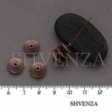 Металлические бусины рондели цвет медь 007-154