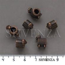 Металлические бусины Овечки в стиле Пандора крупные цвет медь 007-155
