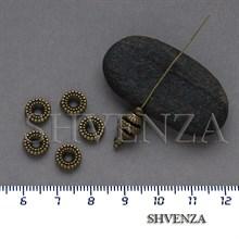 Металлические бусины рондели цвет бронза 007-163