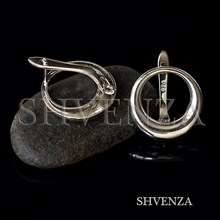 Швензы родиевое покрытие цвет серебро английский замок 017-146