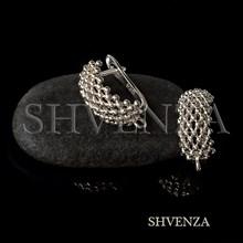 Швензы родиевое покрытие цвет серебро английский замок 017-150