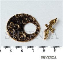 Замок тогл ласточка цвет античное золото 011-033