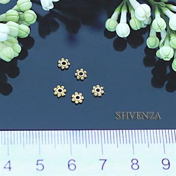 Рондели цвет золото 002-001 - фото 4537