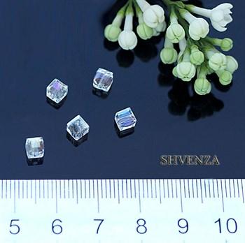 Бусины кубики стекло 008-001 - фото 4568