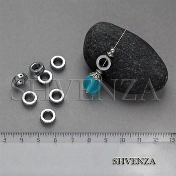 Бусины гематит рамка круглая 10мм 006-058 - фото 7292