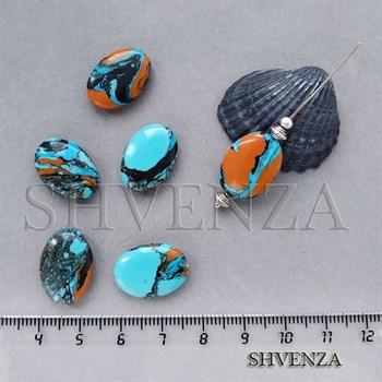 Бусины малахит синтетический 006-064 - фото 7324