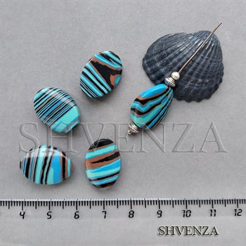 Бусины малахит синтетический 006-065 - фото 7326