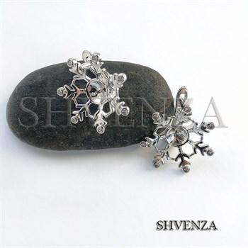 Швензы родиевое покрытие цвет серебро английский замок 014-216 - фото 7405