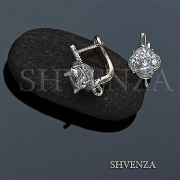 Швензы родиевое покрытие цвет серебро английский замок 014-219 - фото 7454