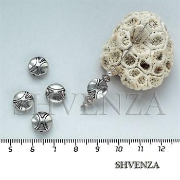 Металлические бусины цвет серебро 007-020 - фото 7514