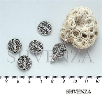 Металлические бусины цвет серебро 007-021 - фото 7516
