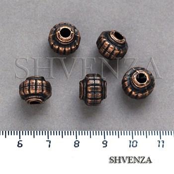 Металлические бусины цвет медь 007-034 - фото 7562