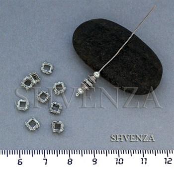 Металлические бусины цвет античное серебро 007-038 - фото 7664