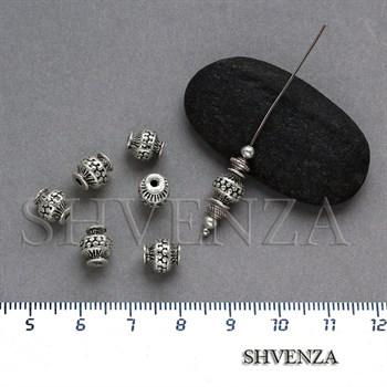 Металлические бусины цвет античное серебро 007-055 - фото 7704
