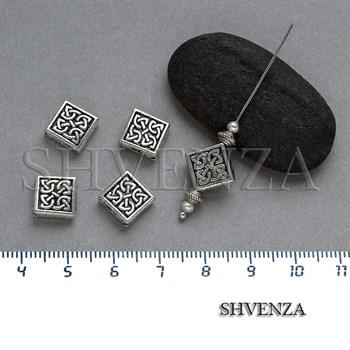 Металлические бусины цвет античное серебро 007-059 - фото 7712