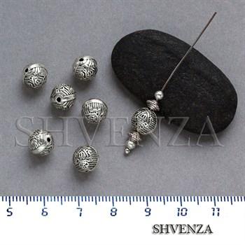 Металлические бусины цвет античное серебро 007-060 - фото 7714